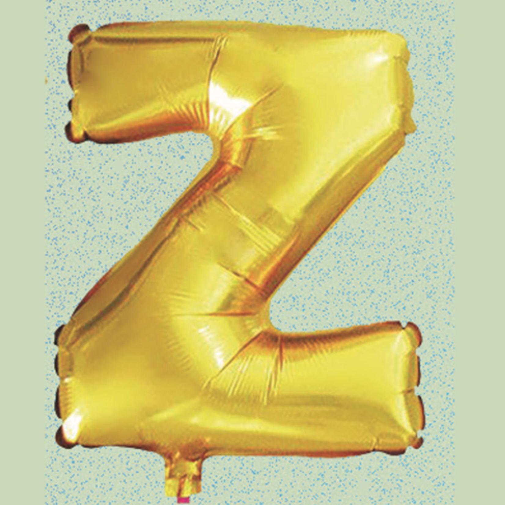 """16'' FOIL BALLOON, """"Z"""" GOLD, 1 PC"""