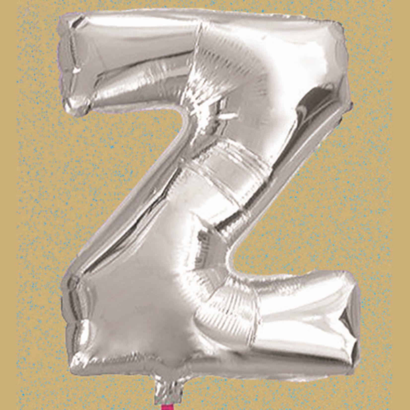 """16'' FOIL BALLOON, """"Z"""", SILVER  1 PC"""