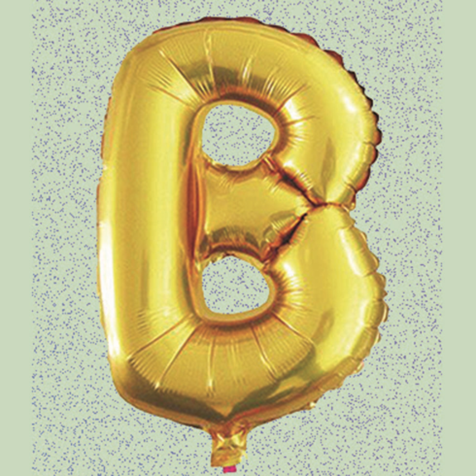"""32"""" GOLD  FOIL BALLOON """"B""""  GOLD"""