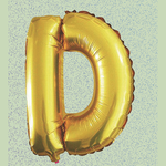 """32"""" GOLD FOIL BALLOON """"D"""""""