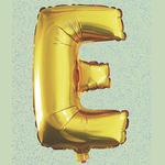 """32"""" GOLD  FOIL BALLOON """"E"""""""
