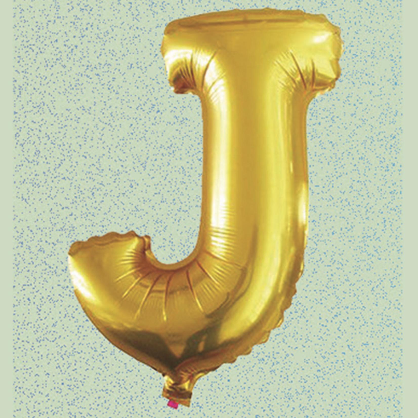 "32"" GOLD  FOIL BALLOON ""J"""