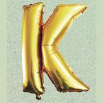 "32"" GOLD FOIL BALLOON ""K"""