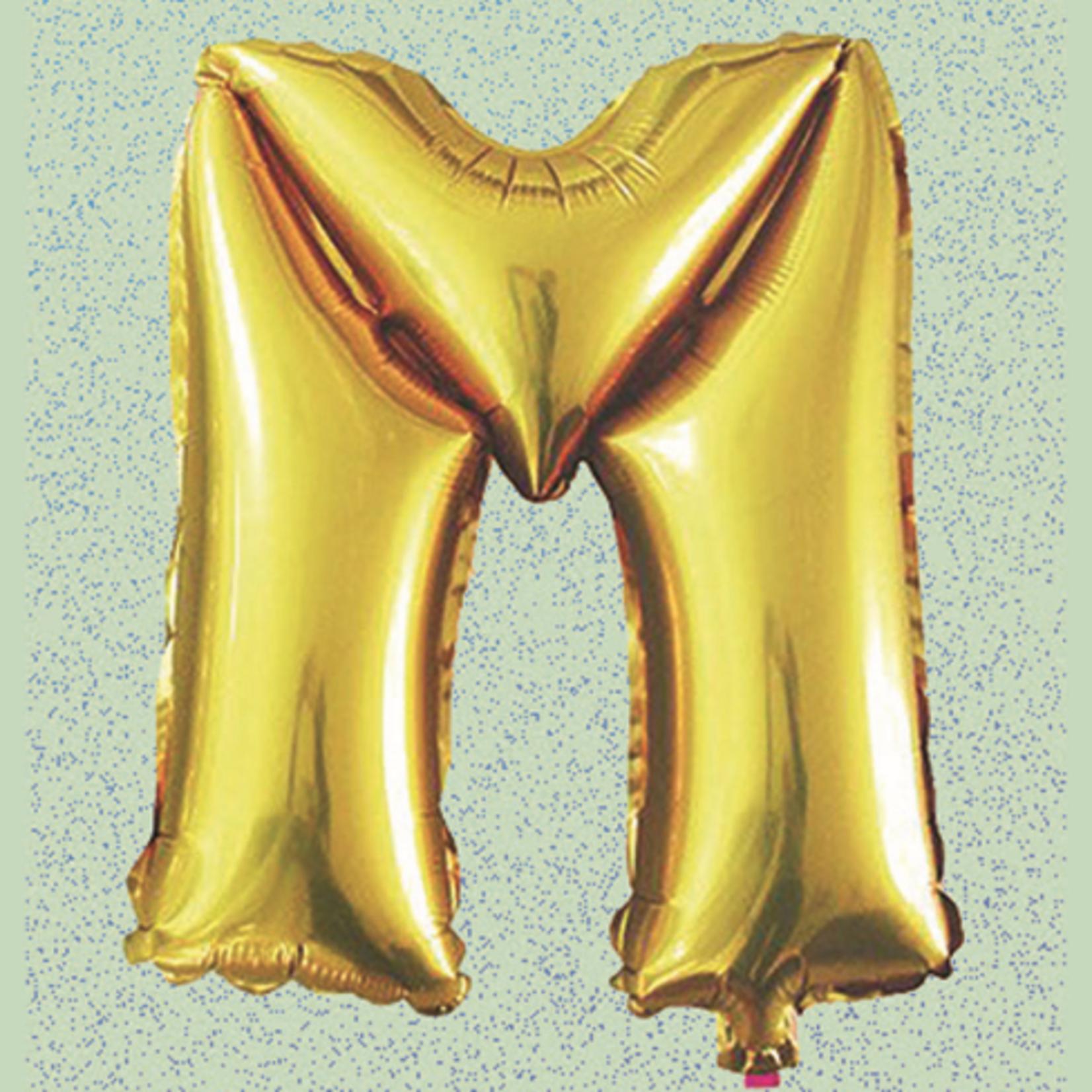 "32"" GOLD  FOIL BALLOON ""M"""
