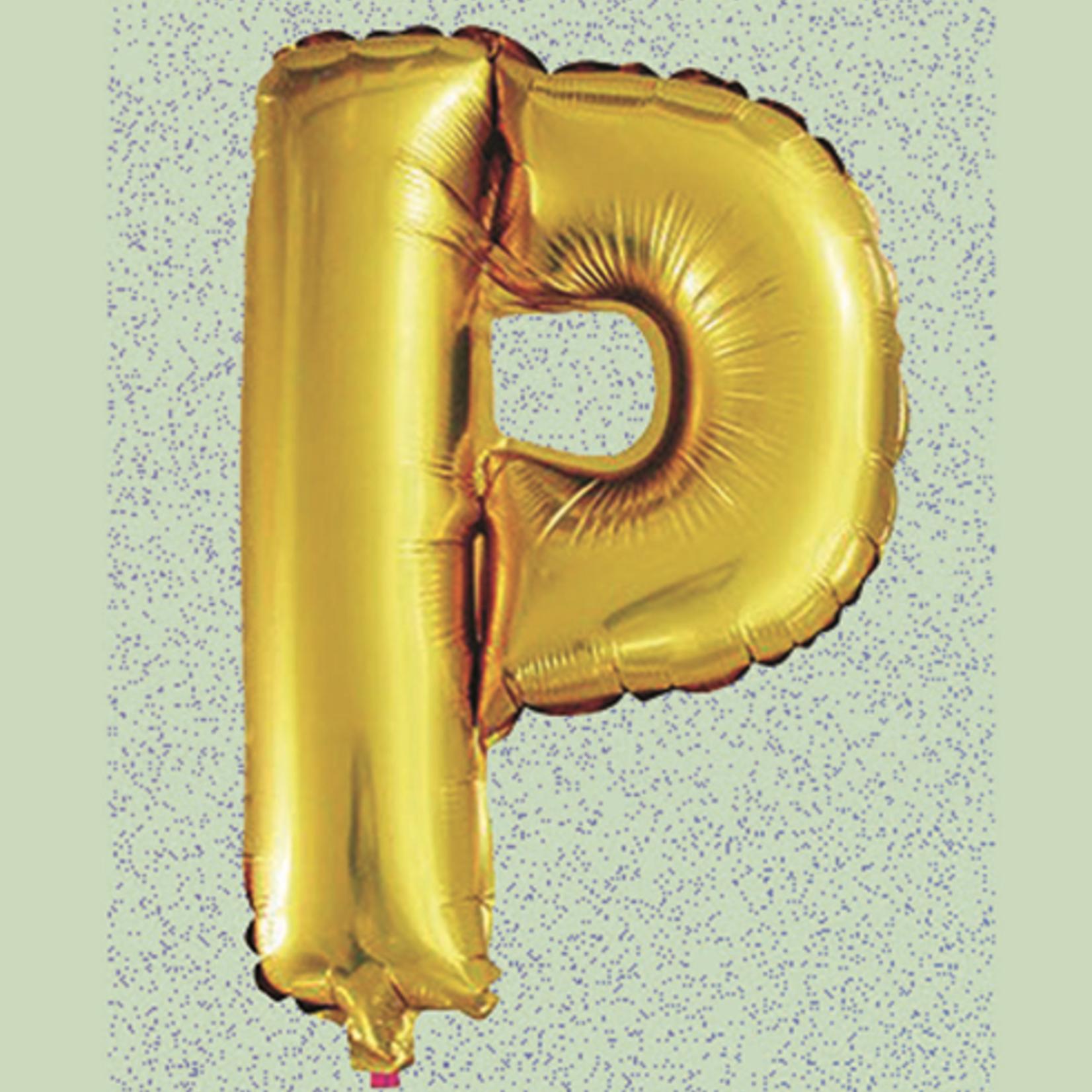 "32"" GOLD FOIL BALLOON ""P"""