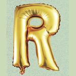 """32"""" GOLD FOIL BALLOON """"R"""""""