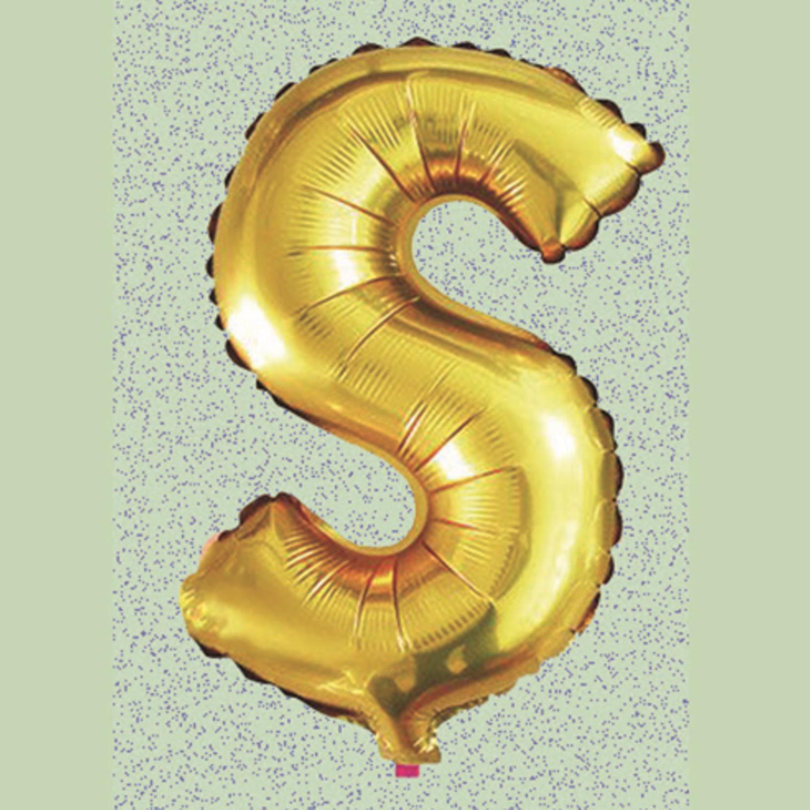 "32"" GOLD FOIL BALLOON ""S"""
