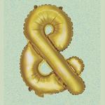 "32"" GOLD FOIL BALLOON ""&"""