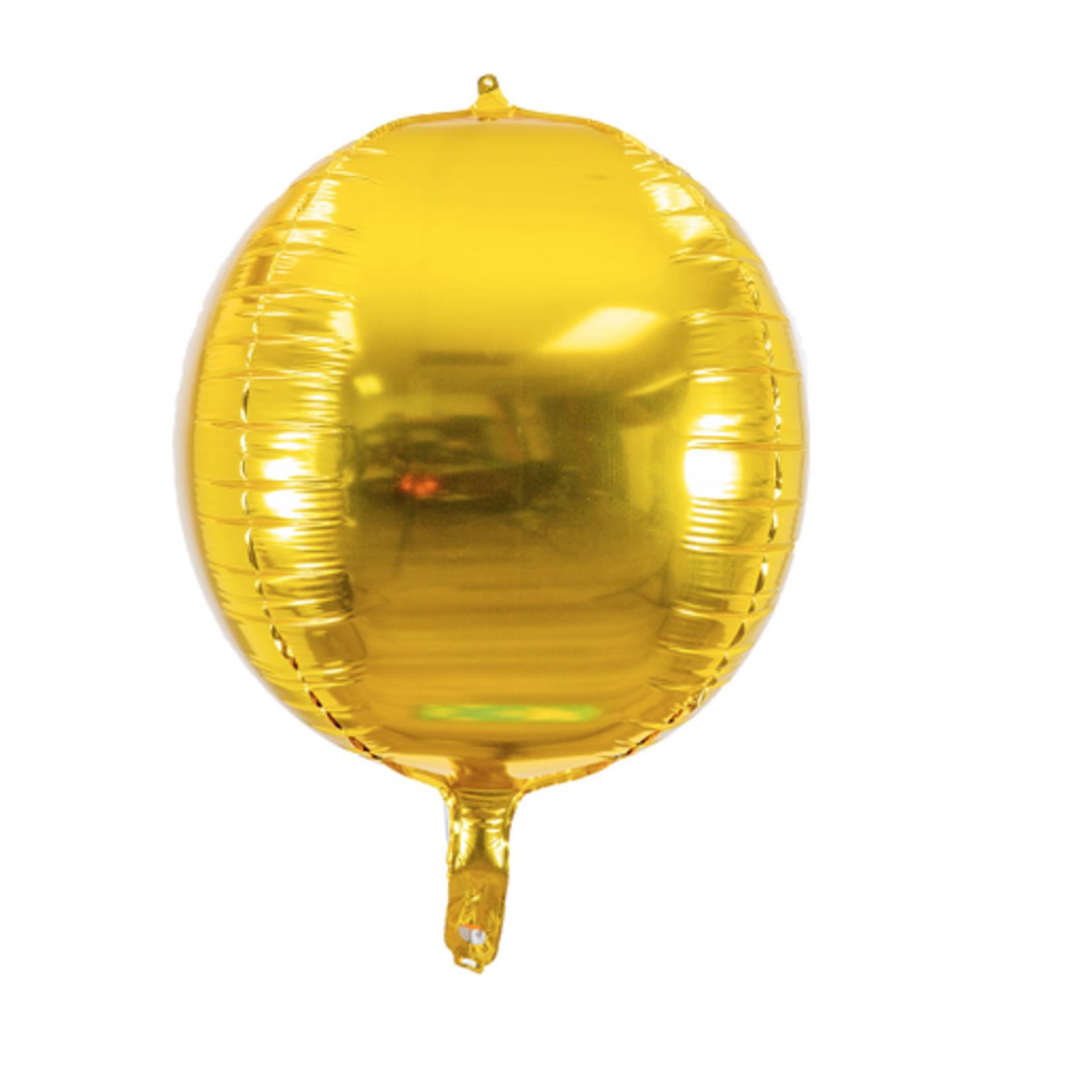 "24"" GOLD SPHERE ""ORB"" FOIL BALLOON-GOLD"
