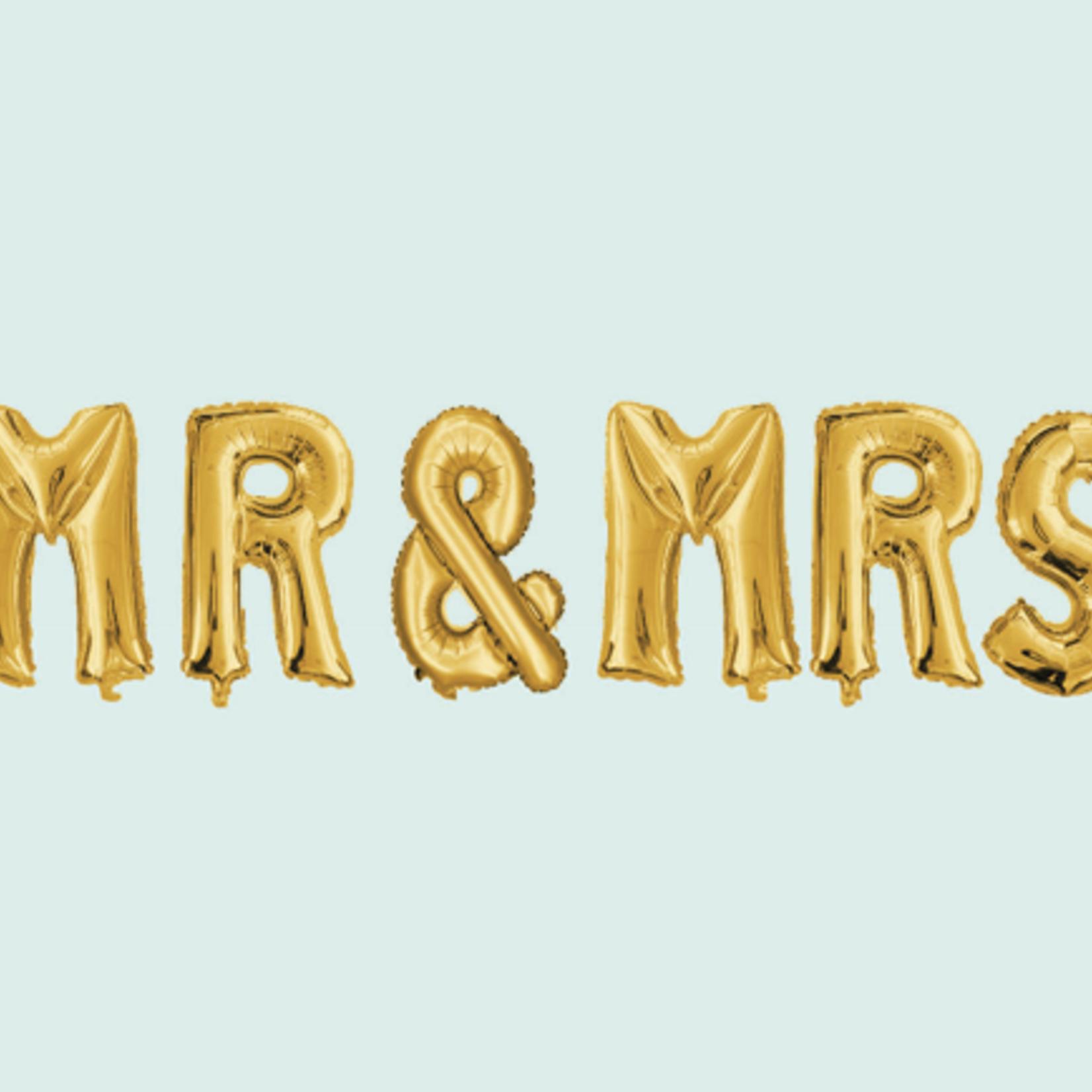 """32'' """"MR & MRS"""" FOIL BALLOONS, I SET"""