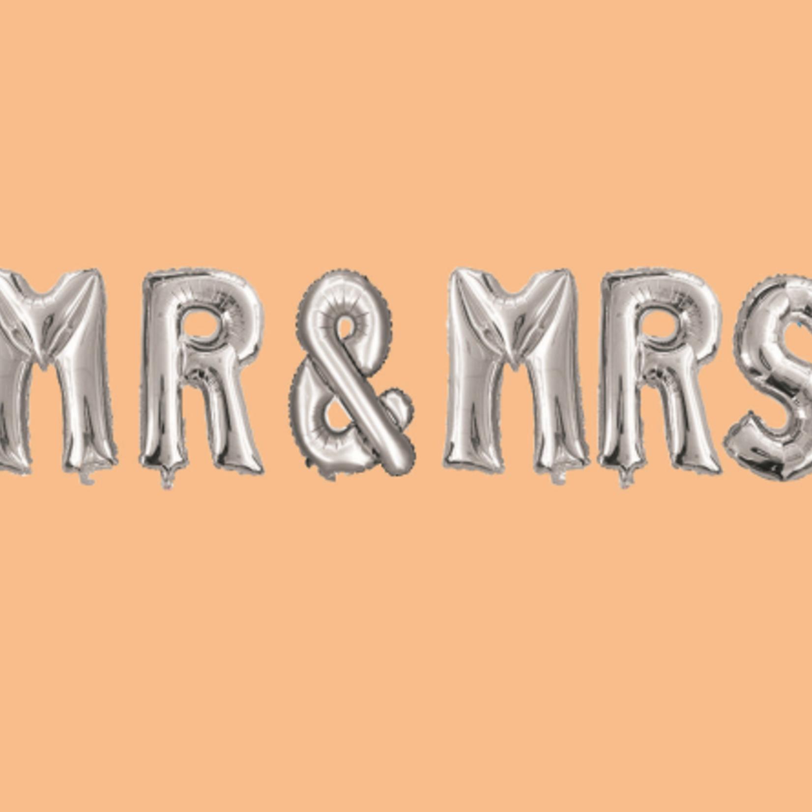 """32''  """"MR & MRS"""" FOIL BALLOON, 1 SET"""