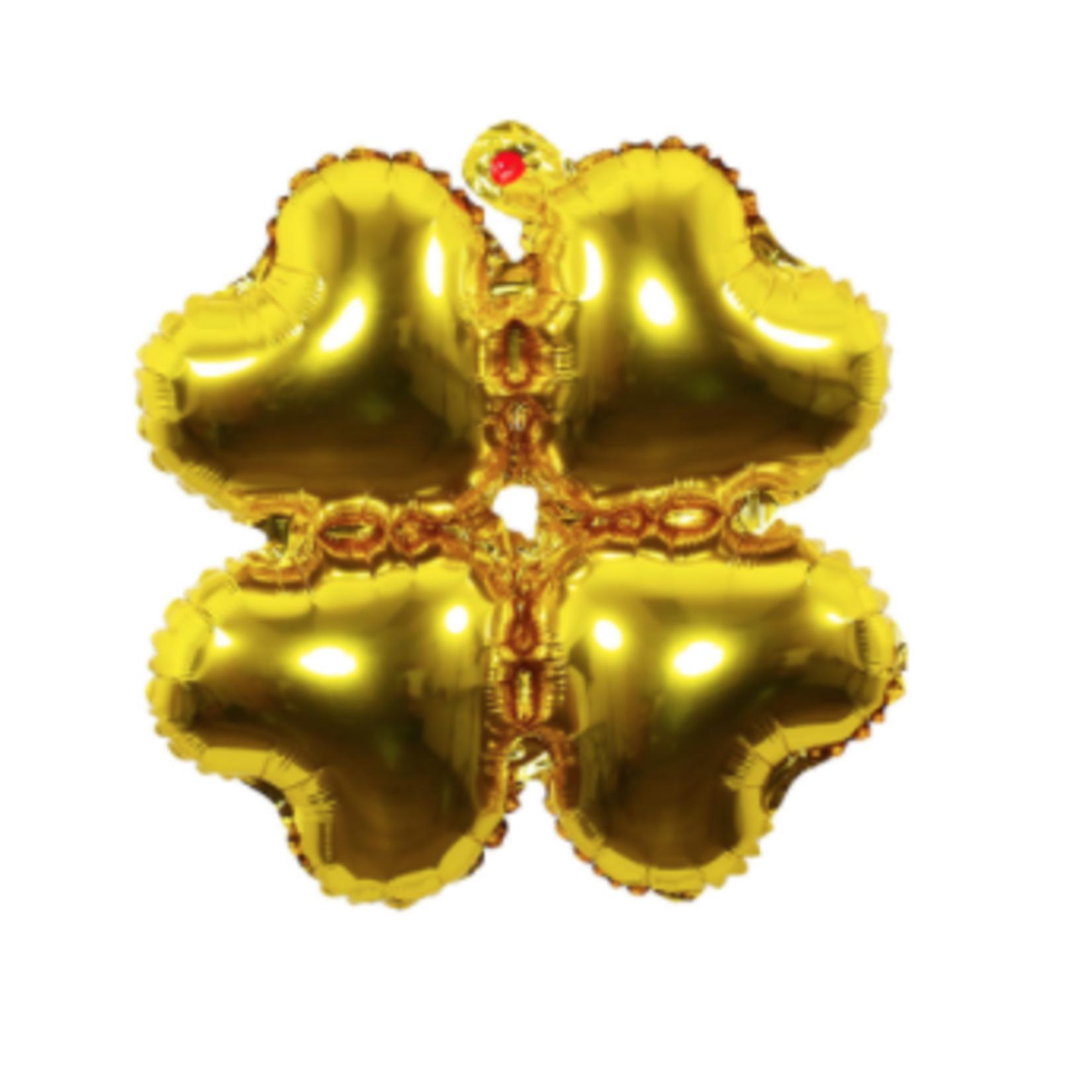 18'' GOLD CLOVER SHAPE BALLOONS, 25 PCS