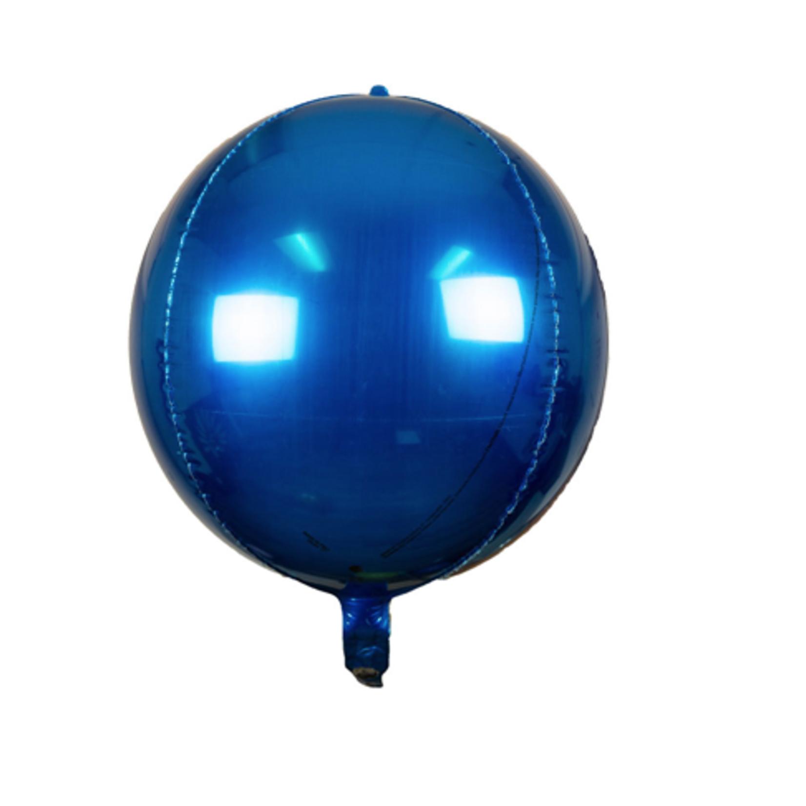 "24'' SPHERE ""ORB"" FOIL BALLOON ROYAL BLUE"