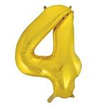 """#4 40"""" GOLD FOIL BALLOONS MYLAR"""