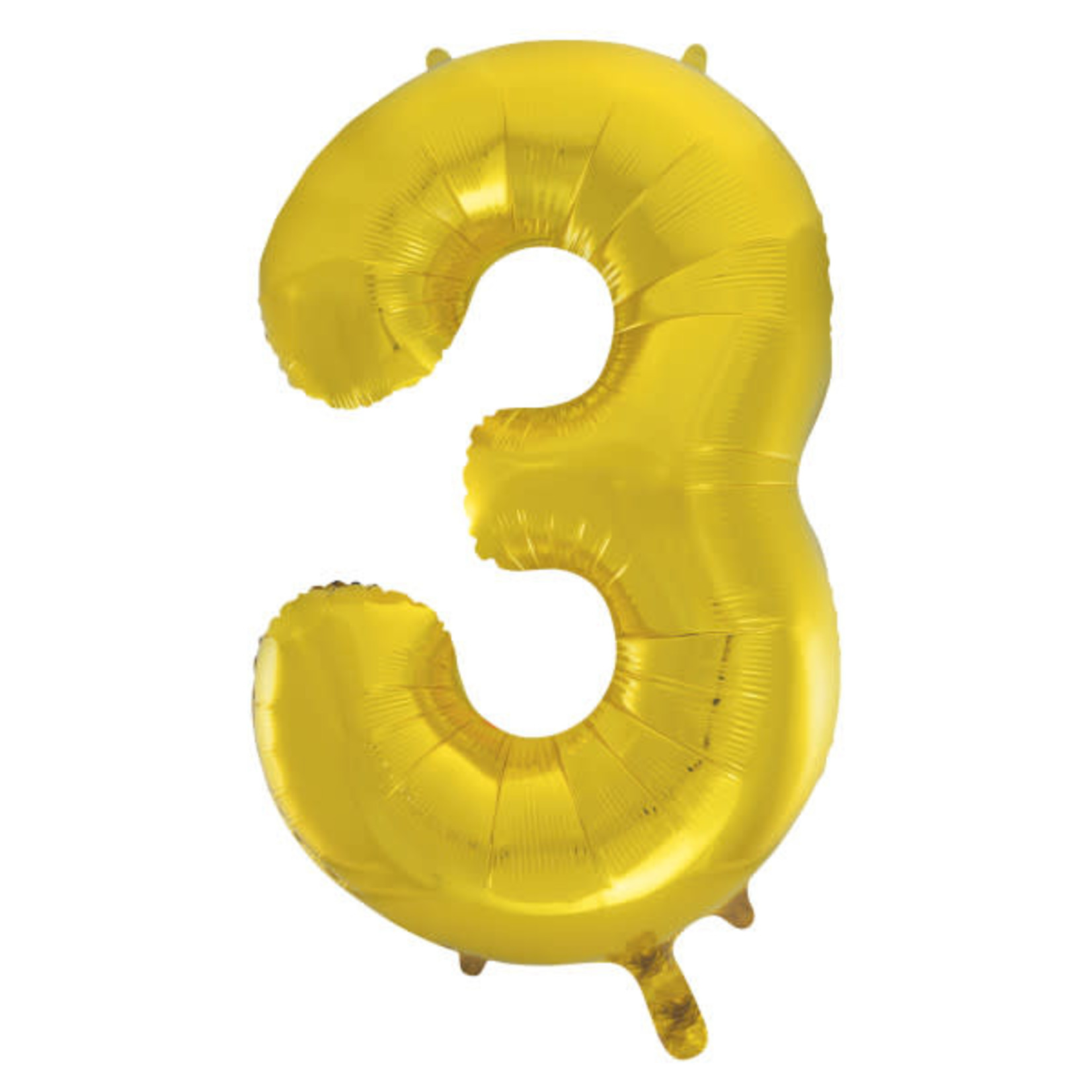 """#3 40"""" GOLD FOIL BALLOONS MYLAR"""