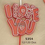 I LOVE YOU Picks 12pc/pk