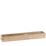 RECT RECCLAMED WOOD BOX 22.5 X 3.2X2.2