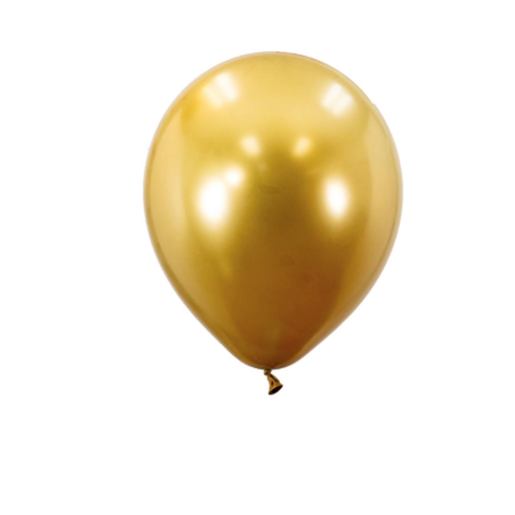 12'' CHROME BALLOON, 50PCS PACK, GOLD