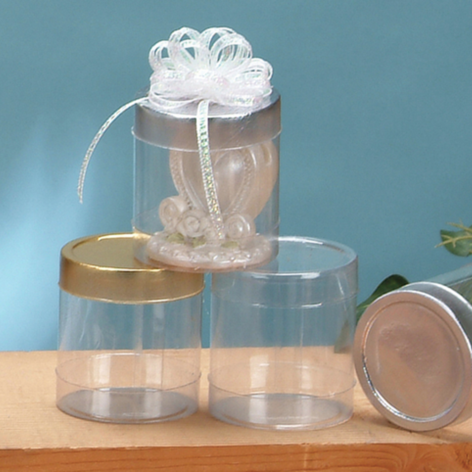 """3""""""""X 3"""""""" CLEAR CYLINDER CONTAINER (12 PCS/PACK)"""