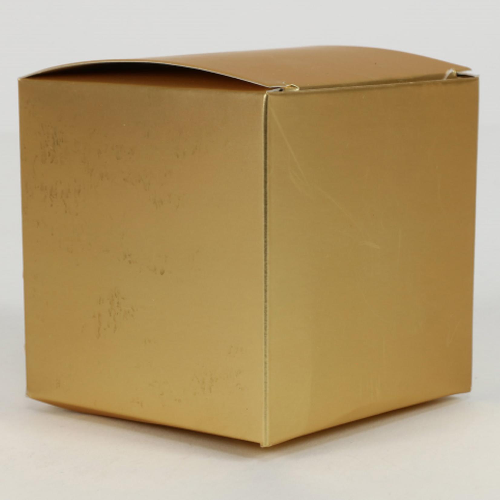 3'' CUBE GOLD BOX