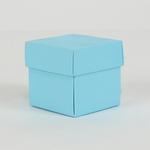 2'' CUBE PAPER GIFT BOX, BLUE, 24 PCS