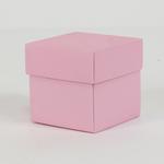 2'' CUBE BOX W LID, 24 PCS, PINK