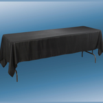 60 X 126'' BLACK RECTANGLE TABLECLOTH