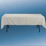 """60"""" X 126"""" IVORY RECTANGLE POLYESTER TABLECLOTH"""