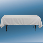 """60"""" X 126"""" WHITE RECTANGLE POLYESTER TABLECLOTH"""