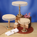 9.5'' X 10 ROUND METAL STAND W PEARL EDGE