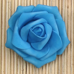 1.75'' TURQ SINGLE FOAM ROSE, 1 DZ