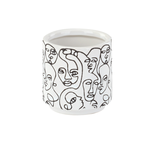 """4"""" H x 3.25"""" W x 3.25"""" L SMALL ABSTRACT FACE PLANTER"""