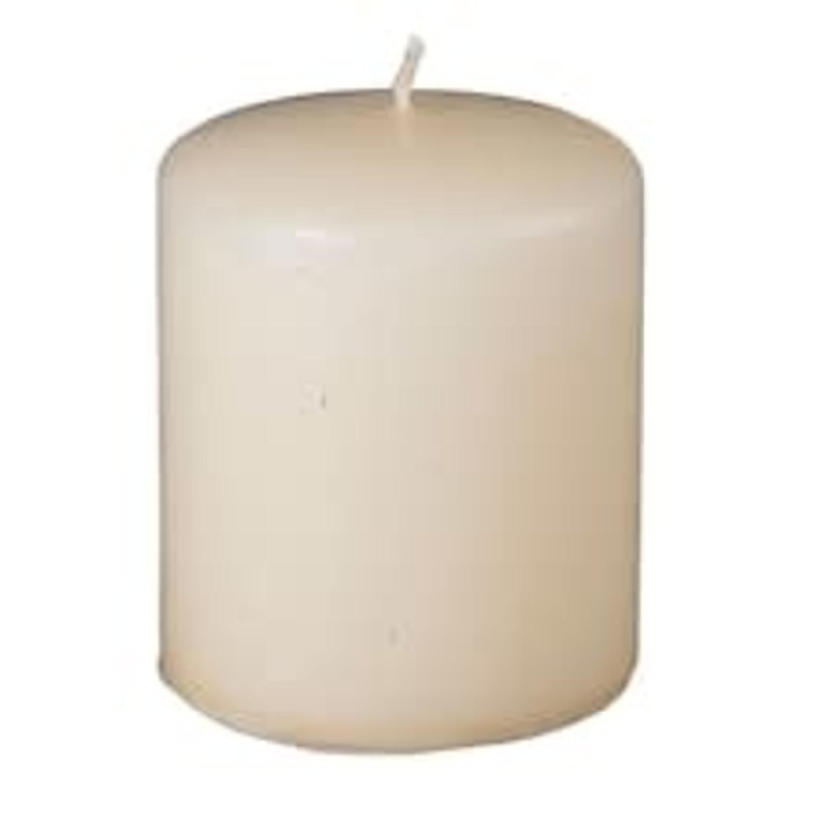 "3""""X3""""H, IVORY Round Pillar Candle"