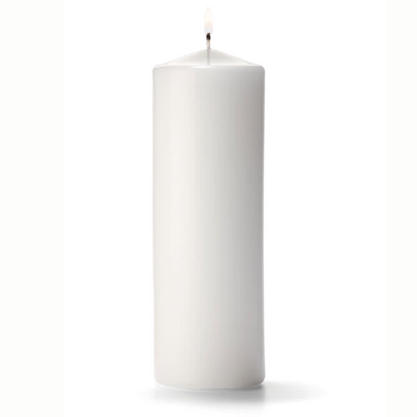 "3""""X9""""H, WHITE Round Pillar Candle"