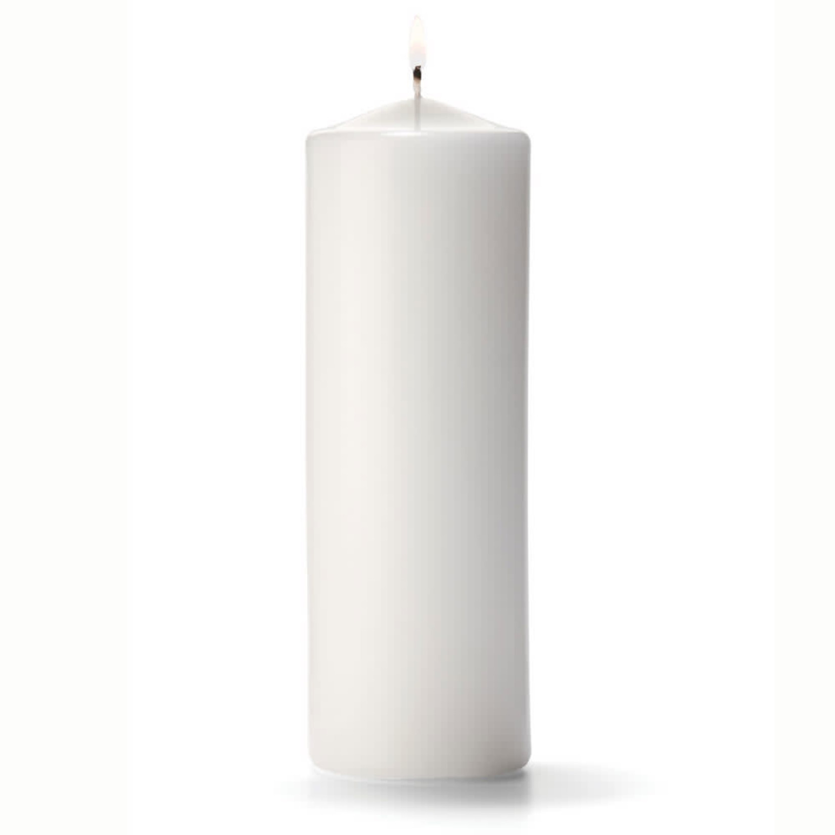 "3""""X16""""H, WHITE Round Pillar Candle"