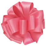 #9, 50 YD DOUBLE FACE SATIN RIBBON HOT PINK