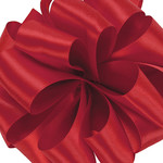 #9, 50 YD DOUBLE FACE SATIN RED RIBBON
