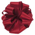 #9, 50 YD, DOUBLE FACE SATIN RIBBON SCARLETT RED