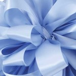 """#9, 50 YD DOUBLE FACE SATIN, """"TRANQUIL BLUE"""""""