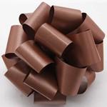 "1.5"" FLORAL SATIN RIBBON  #9 100 YD CHOCOLATE"
