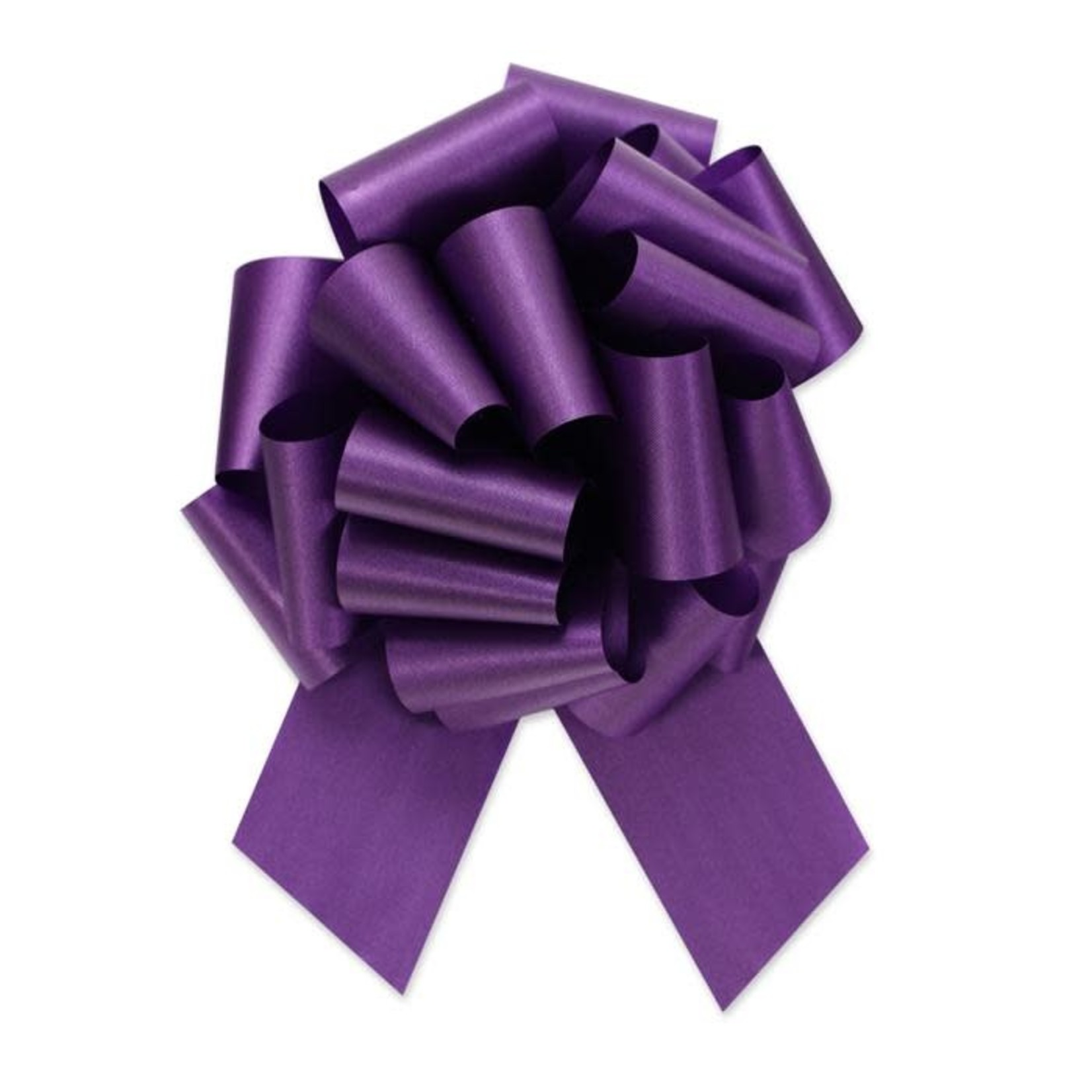 """2.5"""" Perfect Bow White #40 PURPLE, 2.5"""" ribbon width, 8""""d bow size, 20 total loops"""