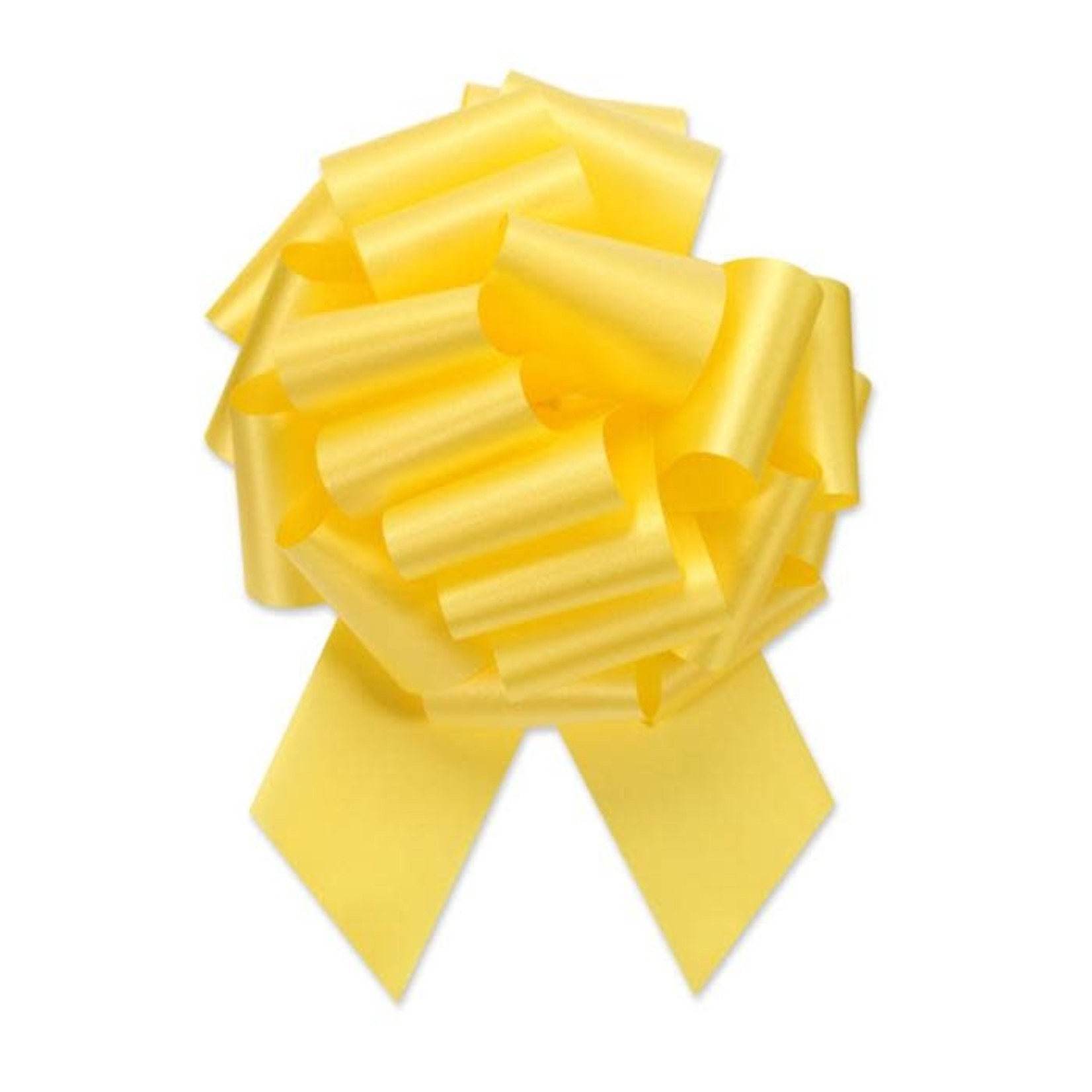 """2.5"""" Perfect Bow White #40 YELLOW, 2.5"""" ribbon width, 8""""d bow size, 20 total loops"""