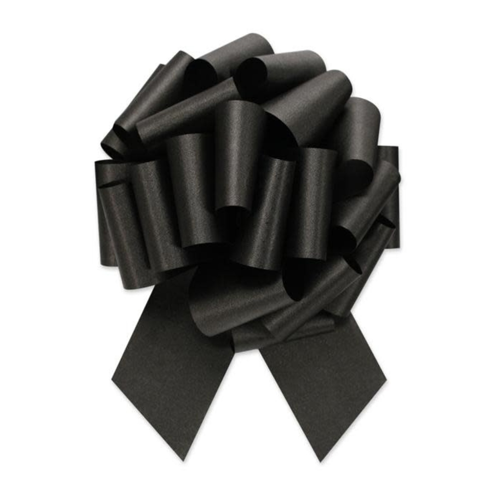 """2.5"""" Perfect Bow White #40 BLACK, 2.5"""" ribbon width, 8""""d bow size, 20 total loops"""