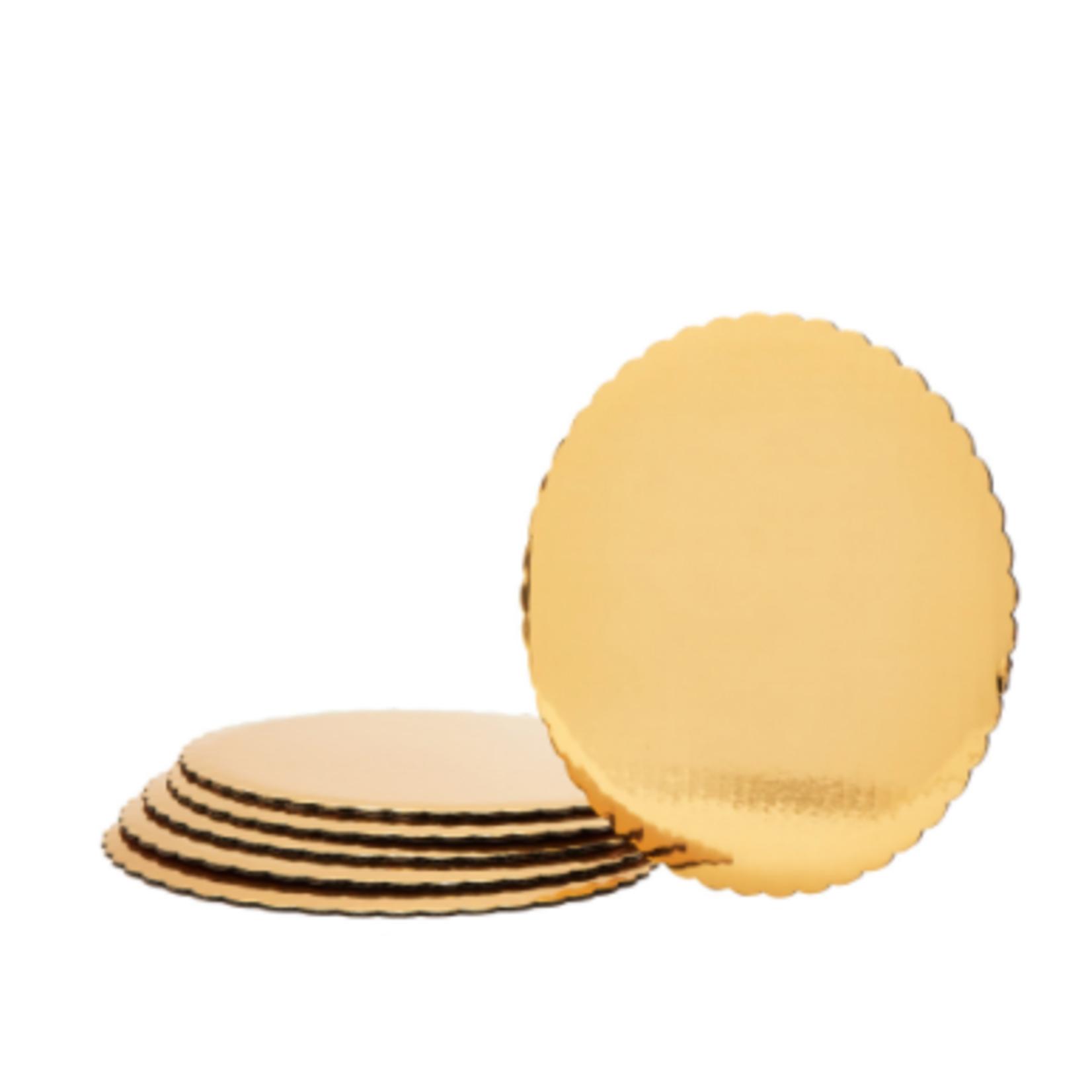 10'' GOLD FOIL COVERED CAKE BOARD- 6 PCS