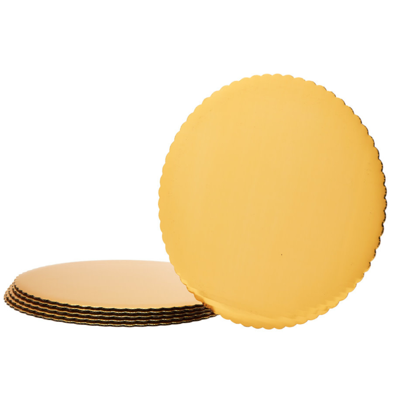 14'', 6 PK GOLD FOIL COVERED CAKEBOARD