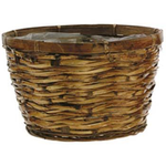 """5.5"""" X 9""""D BROWN BASKET W/ SEWN-IN-LINER"""
