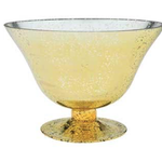 """GOLD FLARED BOWL 9 """"Open, 6.5""""H, 5""""Bottom wd569"""