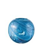 "7""H X 8""D BLUE LAGOON GLASS MARBLE LIKE FISH/BUBBLE BOWL 49104"