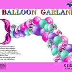 BALLOON GARLAND, PINK MERMAID, 120