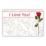 """""""I Love You"""" Single Red Rose"""
